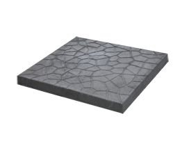 18″ x 18″ cracked ice pre-cast patio slab charcoal